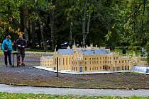 Model Lednice v parku Boheminium.