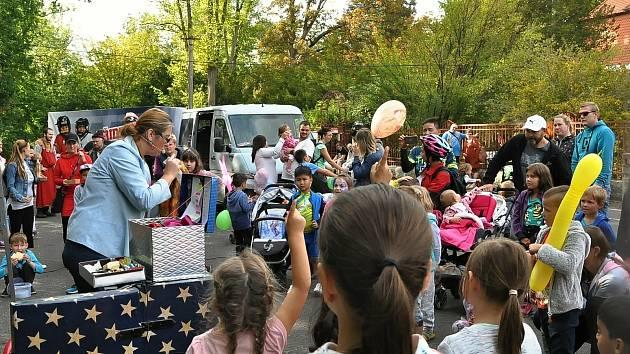 Dětský festival, který pro děti připravil Dům dětí a mládeže Sova Cheb.