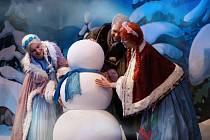 Sněhová královna v Ledovém království.