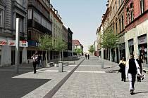 Tak by měla vypadat pěší zóna v Chebu