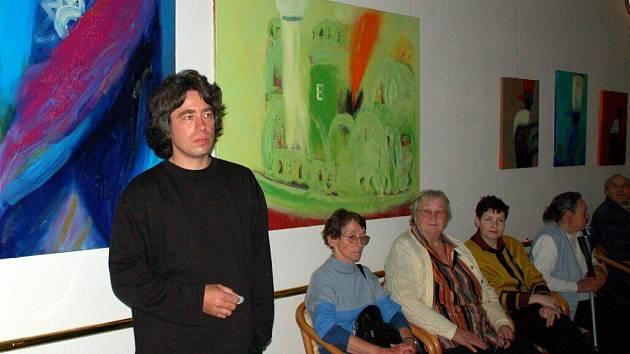 Slavnostní vernisáží začala v mariánskolázeňské galerii Atrium výstava obrazů německého malíře Jense Steinberga