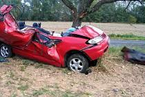 Mladá řidička náraz do stromu nepřežila.