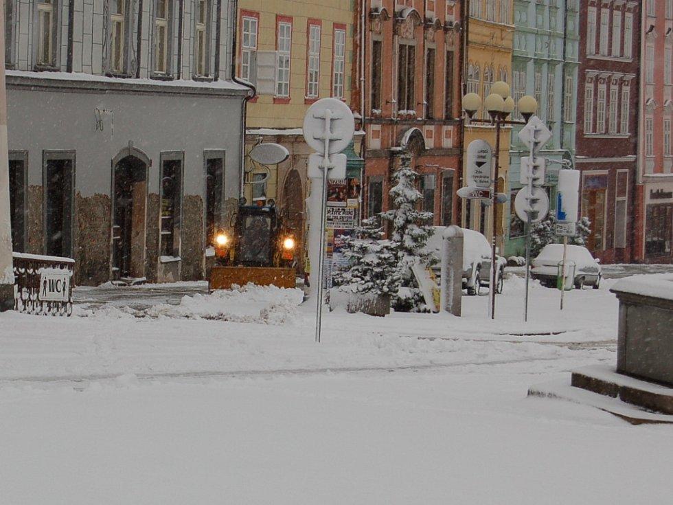 V noci na pátek 21. března napadlo na Chebsku několik centimetrů sněhu