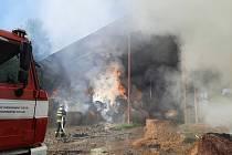 Dobrovolní hasiči z Teplé při zásazích.