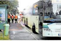 Autobusu se přehřály brzdy
