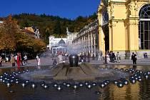 Zpívající fontána a kolonáda v Mariánských Lázních