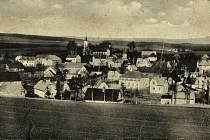Lomnička na staré pohlednici