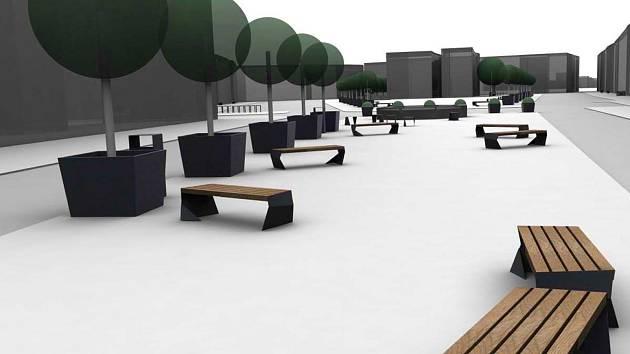 VIZUALIZACE toho, jak by měly vypadat nové lavičky, které chce město umístit do historického jádra města.