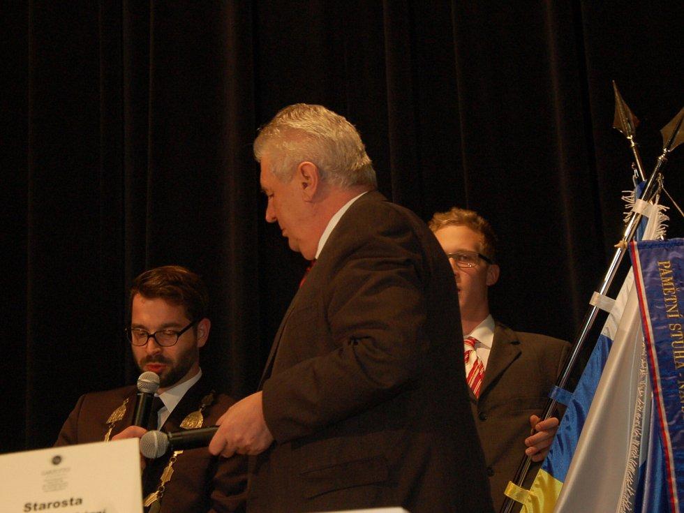 Prezident Miloš Zeman navštívil Chebsko.
