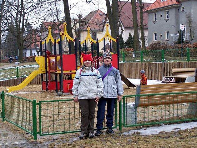 dětské hřiště v Hradební ulici. Podobné má vzniknout i na Spáleništi