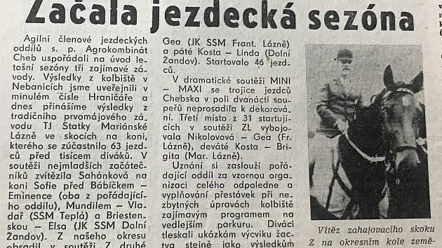 Chebský Hraničář ze 16. května 1989