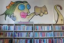 Nová výzdoba dětského oddělení chebské knihovny.