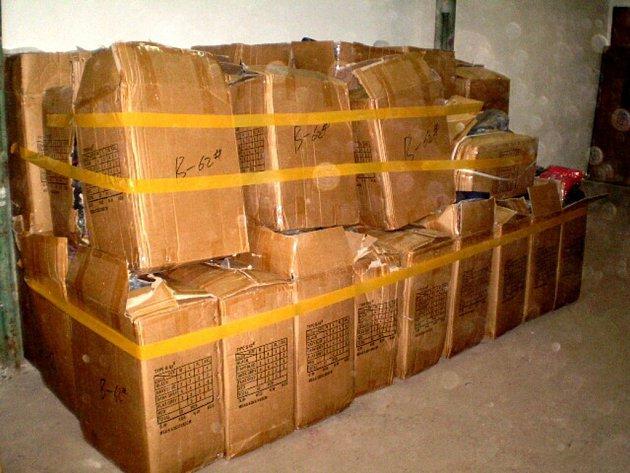 Textilní zboží zadržené chebskými celníky