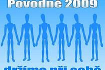 Logo Povodně 2009 - držíme při sobě
