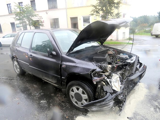 Dopravní nehoda v Aši