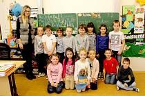 Základní a mateřská škola Dolní Žandov, třída 1.A, třídní učitelka Dana Baloghová.