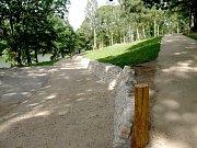 Území nad přehradou Skalka prošlo velkou renovací v minulém roce. Letos zde vyroste Goethův naučný lesopark.