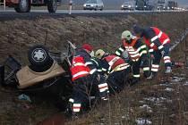 Tragická dopravní nehoda u Brodu nad Tichou, ke které došlo v pátek 27. února