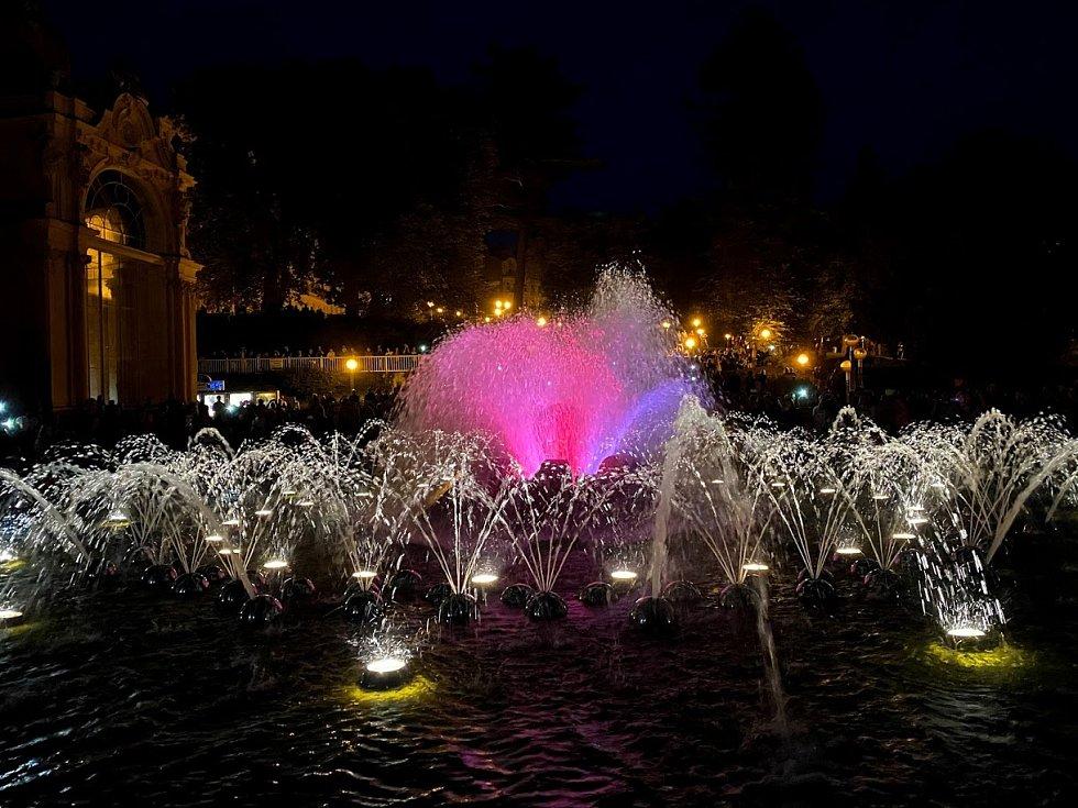 Zpívající fontána byla okouzlující.