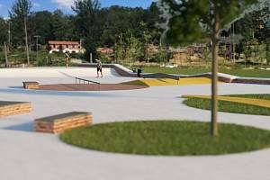 Vizualizace skate parku v Chebu.