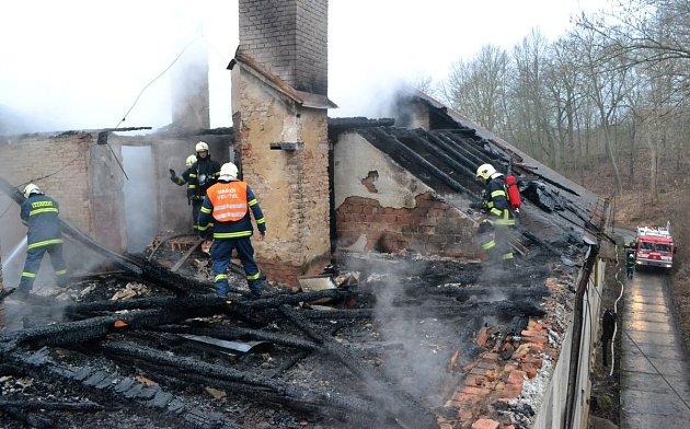 V bývalém internátu vypukl požár.