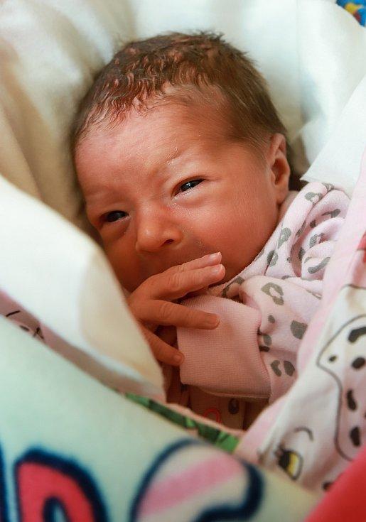 GABRIELA KUFČÁKOVÁ se poprvé rozkřičela ve středu 6. listopadu v 16.01 hodin. Při narození vážila 2 870 gramů. Z malé Gábinky se těší doma v Aši maminka Barbora a s ní celá rodina. Foto: Václava Simeonová st.