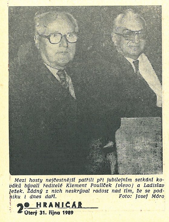 Chebský Hraničář z 31. října 1989.