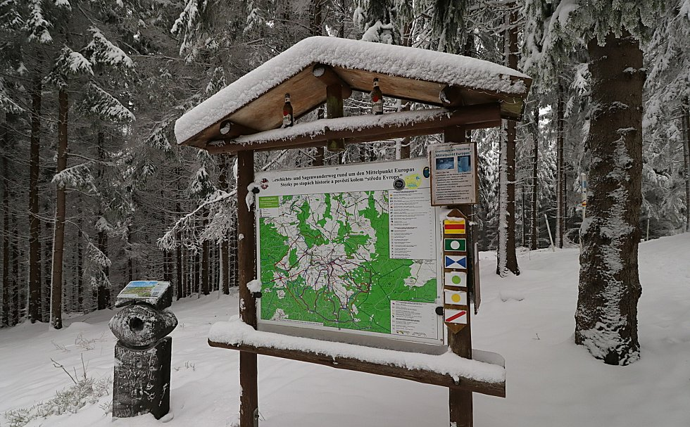Střed Evropy pod Dylení a jeho blízké okolí.