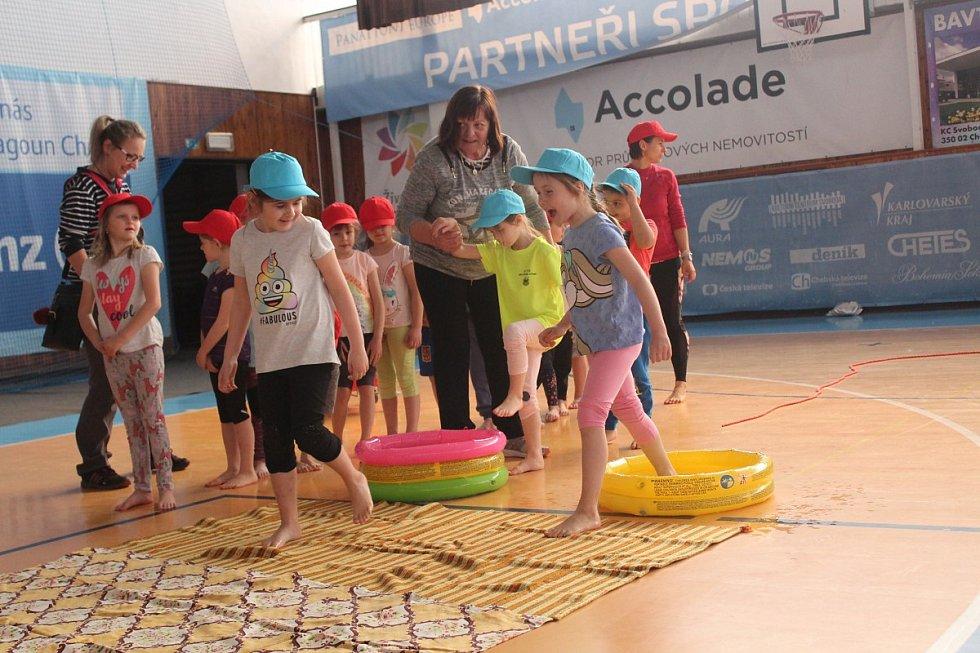 Projekt Rozhýbejte české děti sklidil u dětí velký úspěch. Kromě soutěží si malí předškoláci i zatančili.
