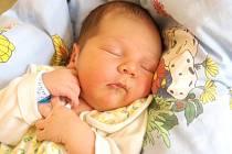 MATYÁŠ BÁRTA se poprvé rozkřičel v úterý 22. dubna v 4.15 hodin. Vážil 3 470 gramů a měřil 51 centimetrů. Maminka Jiřina a tatínek Jiří se těší z malého Matyáška doma ve Velké Hleďsebi.