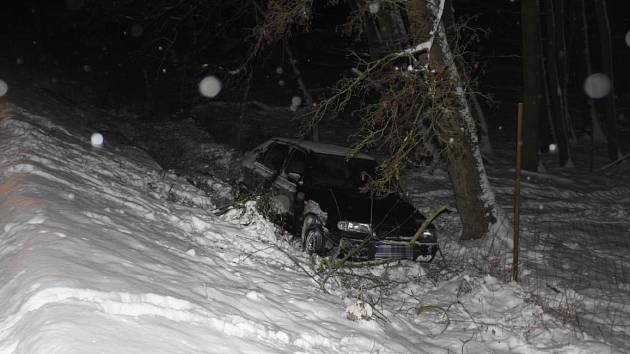 Auto po nehodě.