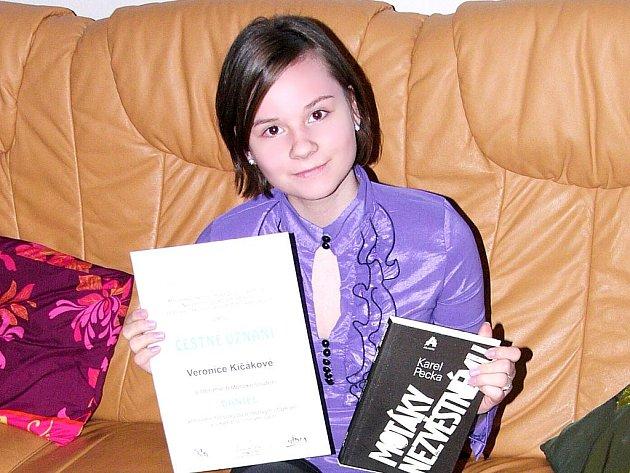 Oceněná Veronika Kičáková.