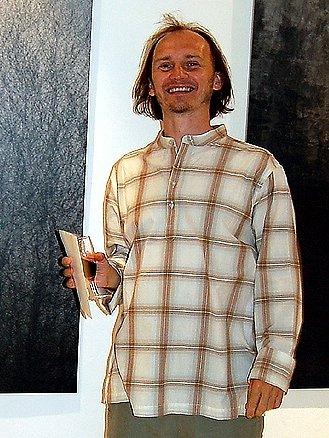 Mladý výtvarník Petr Zinke