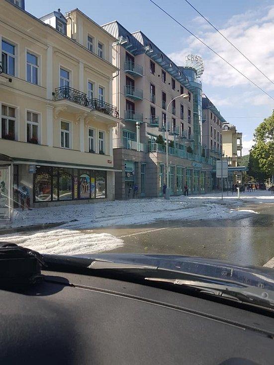 Voda v Mariánských Lázních.