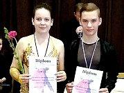 Zlaté medaile do Chebu přivezl taneční pár Adéla Brňáková a Jan Horník.