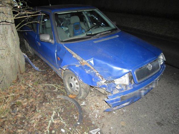 Takto skončil vůz opilého řidiče