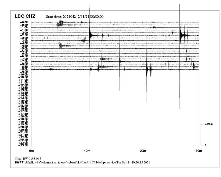 Zemětřesení ze středy na čtvrtek.