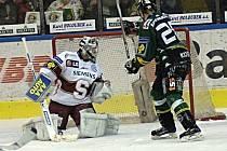 3. zápas hokejového play off mezi Energií Karlovy Vary a Sparta Praha. Energie vyhrála 5:3