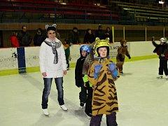 Žáci Základní školy Jih v Mariánských Lázních si užili karneval na ledě.