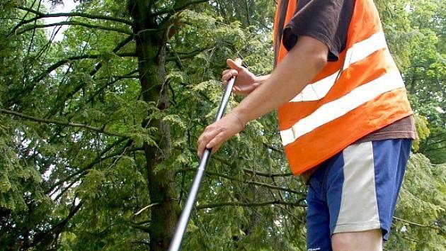 Pracovníci Chebských technických služeb v těchto dnech zkrášlují park v městských sadech.