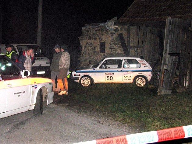 Místo nehody v Horním Hradišti na Severním Plzeňsku