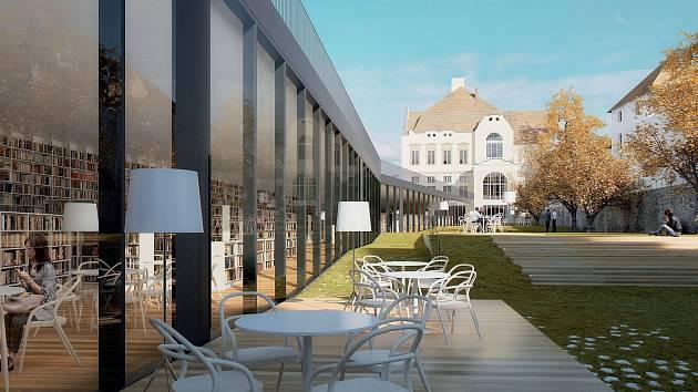 Tak má vypadat neviditelná přístavba knihovny.