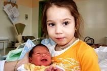 SAMUEL LIPTÁK přišel na svět v neděli 22. února ve 22. hodin. Vážil 2750 gramů a měřil 48 centimetrů. Doma v Dolním Žandově se na návrat maminky Jany a malého Samuela těší čtyřletá Valentýnka a tatínek Lukáš.