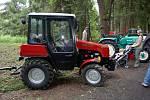 Výstava historických traktorů na jednom z minulých ročníků Hraničních slavností v Lubech