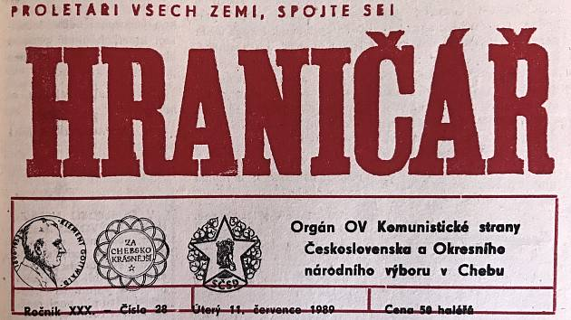 Chebský Hraničář z 11. července 1989.