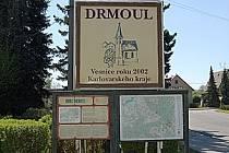 Tabule Drmoul - Vesnice roku 2002 Karlovarského kraje