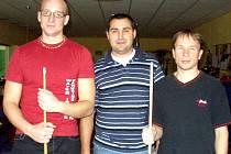 Turnaj vyhrál Stanislav Doskočil (uprostřed)