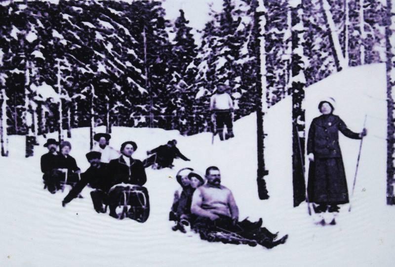 Zimní kratochvíle na Hřebečné v minulosti