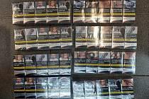 Zajištěné cigarety.