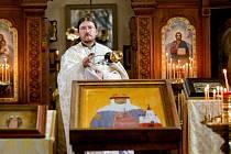 V PRAVOSLAVNÉM CHRÁMU svaté Olgy ve Františkových Lázních, nejstarším pravoslavném kostele v ČR, v neděli 24. července oslavili v pořadí již 127. chrámový svátek. Každým rokem si věřící v chrámu svaté Olgy v červenci připomínají den památky své patronky